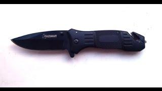 Обзор. Нож складной, стропорез, штырь для стекла + чехол