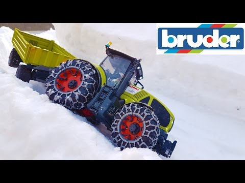 BRUDER RC tractors snow transport!