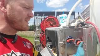 Proportioner maintenance- flushing the Sodium Hypochlorite valve