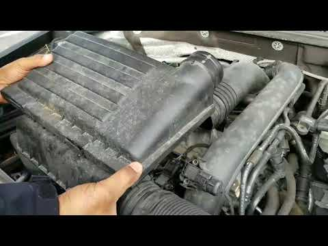 2016 Volkswagen Jetta air filter replace how to diy