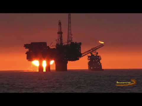 Amazing Footage of Sun Rises Near North Sea Oil Platforms