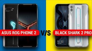 Rog Phone 2 vs Black Shark 2 Pro || Full Comparison - Display, Camera, Battery, Benchmark & More...