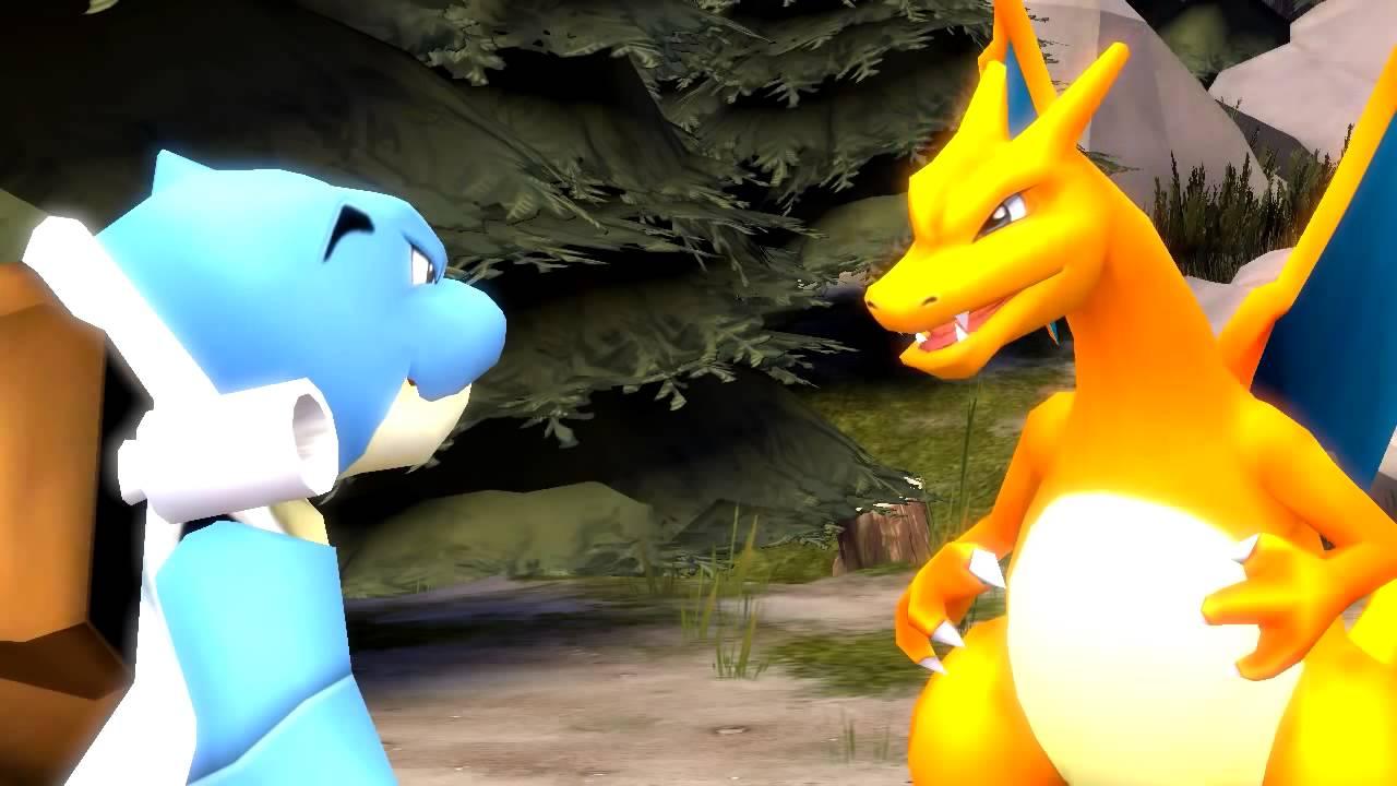 Blastoise and Charizard FIGHT! Pokemon SFM - YouTube