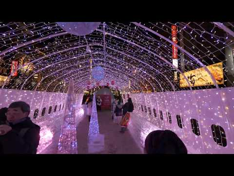 【4K】Sapporo night walk from Susukino to Sapporo station