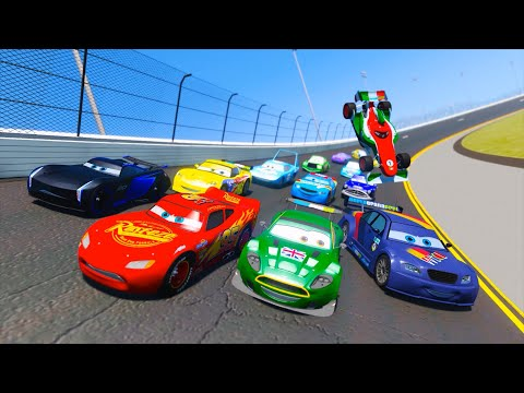 Thumbnail: Race Cars 3 Daytona McQueen Jackson Storm Max Schnell Nigel Gearsley Francesco and Friends & Songs