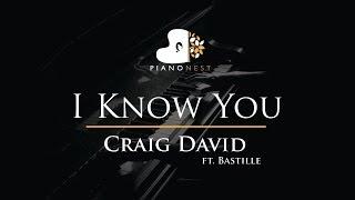 Craig David - I Know You ft. Bastille - Piano Karaoke / Sing Along / Cover with Lyrics