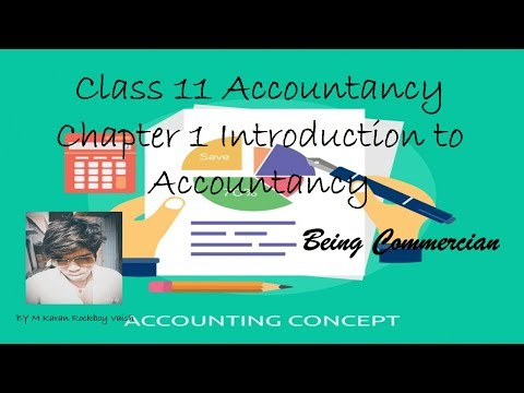 Class 11 Account CBSE Chapter 1 Introduction to Accountancy Part 1