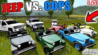1972 JEEP EDITION | COPS VS ROBBERS | MONTANA MOUNTAIN MAP | LIVESTREAM