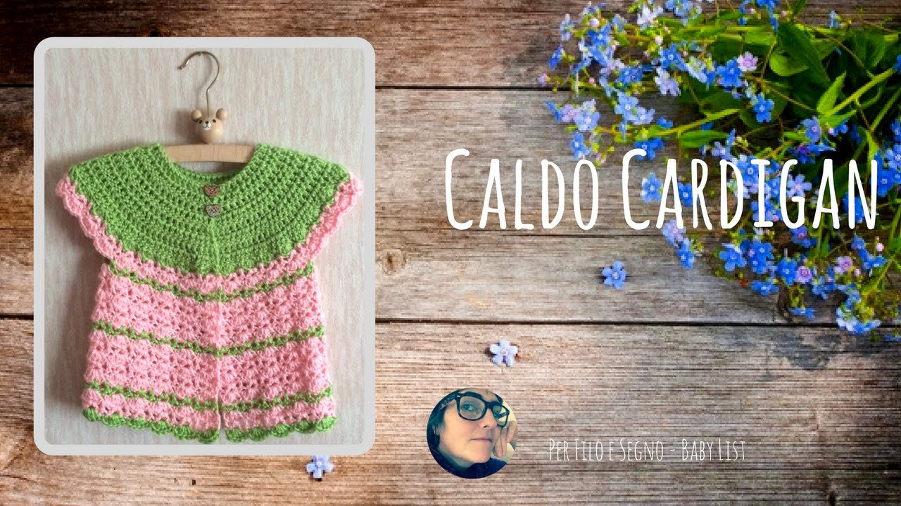 Tutorial - Caldo Cardigan (taglia 18 mesi) - YouTube 0c99a61a393b