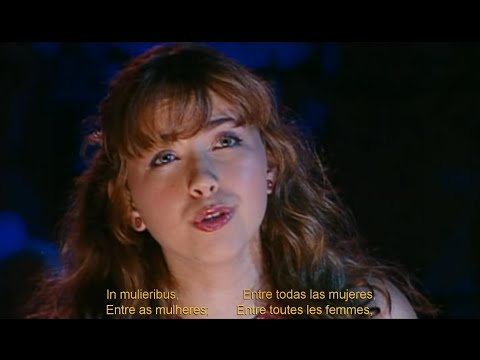 "Charlotte Church, ""Ave Maria"" (2000). Live, HD, lyrics & Latin, Spanish, Portuguese, French subs."