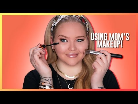 FULL FACE USING ONLY MY MOM'S MAKEUP Challenge | NikkieTutorials