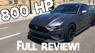 800 HP MUSTANG GT REVIEW..... IT'S SCARY FAST