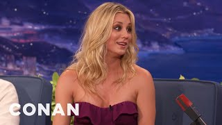 Kaley Cuoco Almost Hit Conan's Car On The Warner Brothers Lot - CONAN on TBS