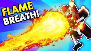 MASSIVE FLAME BREATHING CLONE DRONE! (Clone Drone in the Danger Zone Funny Gameplay)