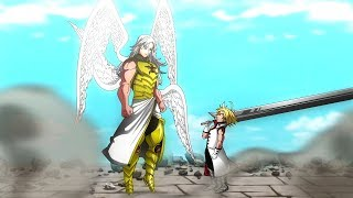 batalha completa mael vs meliodas nanatsu no taizai