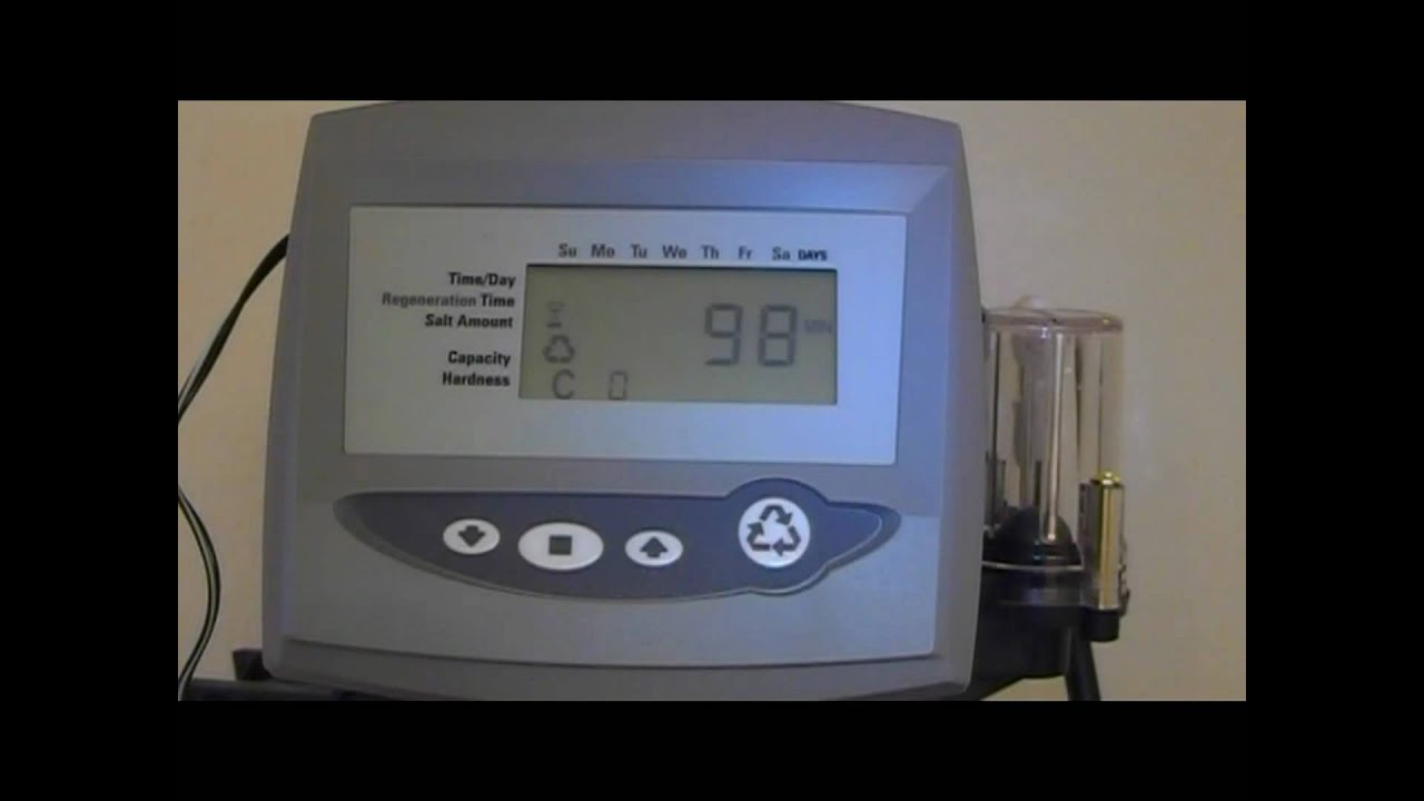 How To Start A Water Softener Logix Timer Manual Start Youtube
