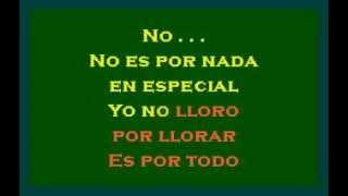 Yo no Lloro por Llorar   Ana Victoria Karaoke