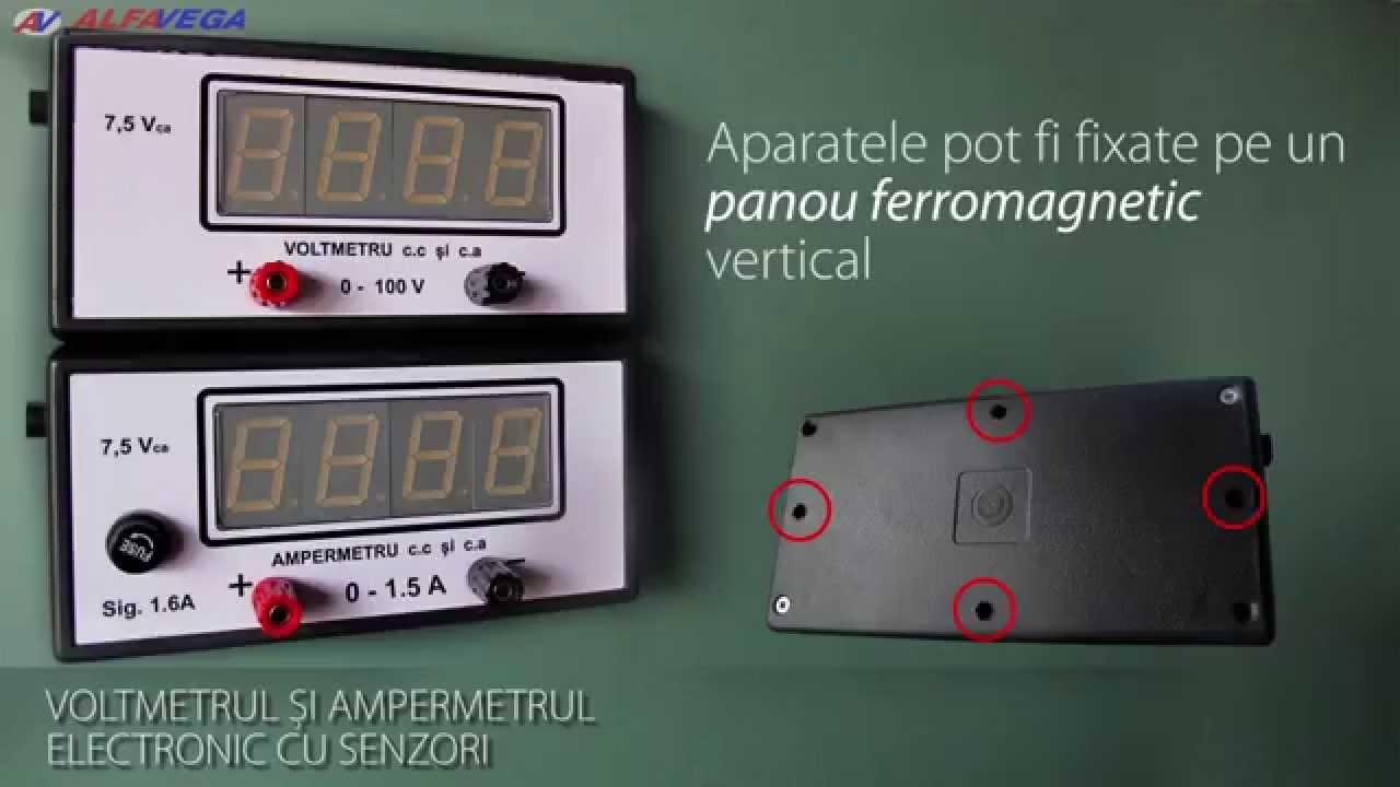 Voltmetrul Si Ampermetrul Electronic Cu Senzori