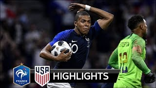 FRA 1-1 USA - All Goals amp Extended Highlights - 09062018 HD