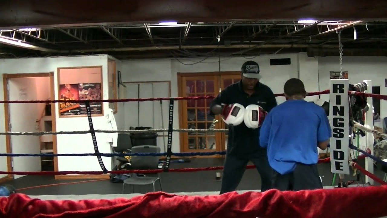 Aspira Boxing Club Coach Sal Josey Pad Work