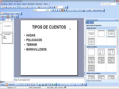 TUTORIAL DIAPOSITIVAS POWER POINT 2003 - YouTube