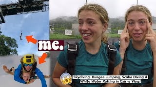 GUYS, I Skydived and Bungee-Jumped. 🙃 || Backpacking Cairns Vlog. Solo Travel or w/Friends?
