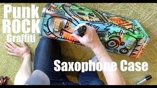 """Punk Rock Graffiti"" Saxophone- painting-sketch time lapse"