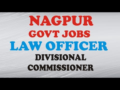govt jobs, law officer vacancy 2017 ,Divisional Commissioner Nagpur Jobs 2017