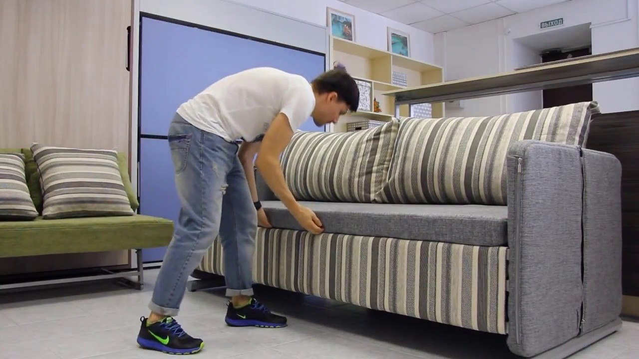 Лучший МАЛОГАБАРИТНЫЙ диван в маленькую комнату!!! Sofa Bed - YouTube