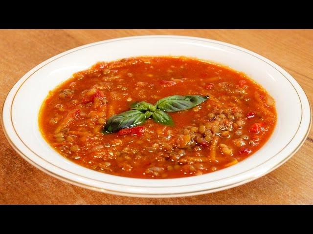 Суп томатный с чечевицей / Tomato lentil soup ♡ English subtitles