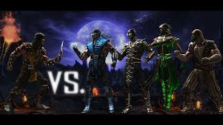 Mortal Kombat X - Scorpion vs. the Ninjas (HARD Difficulty)