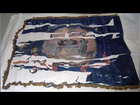 Travels With Charlie- Civil War Battle Flag at Delaware Historical Society