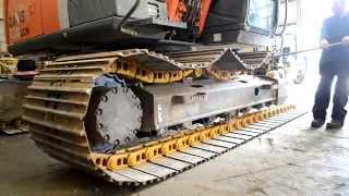 Undercarriage Ireland New Tracks Fitted To A Hitachi Zaxis 130LCN 3 Excavator