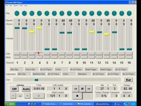de MidiZanger 4 - Sweet MIDI Player