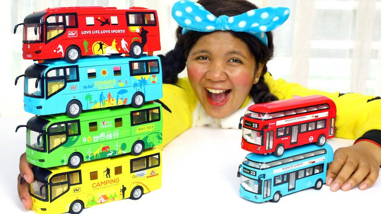 Ten Little Buses Song Nursery Rhymes for Kids