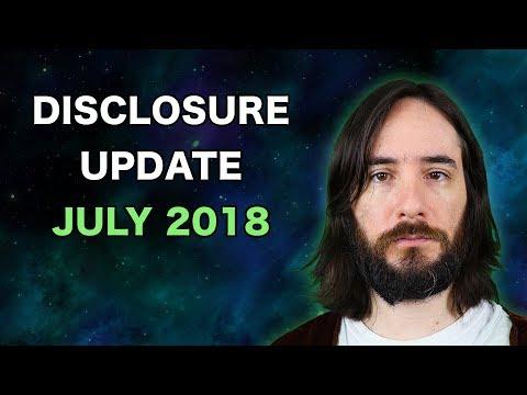 UFO Disclosure Update: July 2018