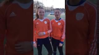 Jong-oranje Internationals Marijn Veen En Renee Van Laarhoven Naar De Nationale Hockeydag In 2017