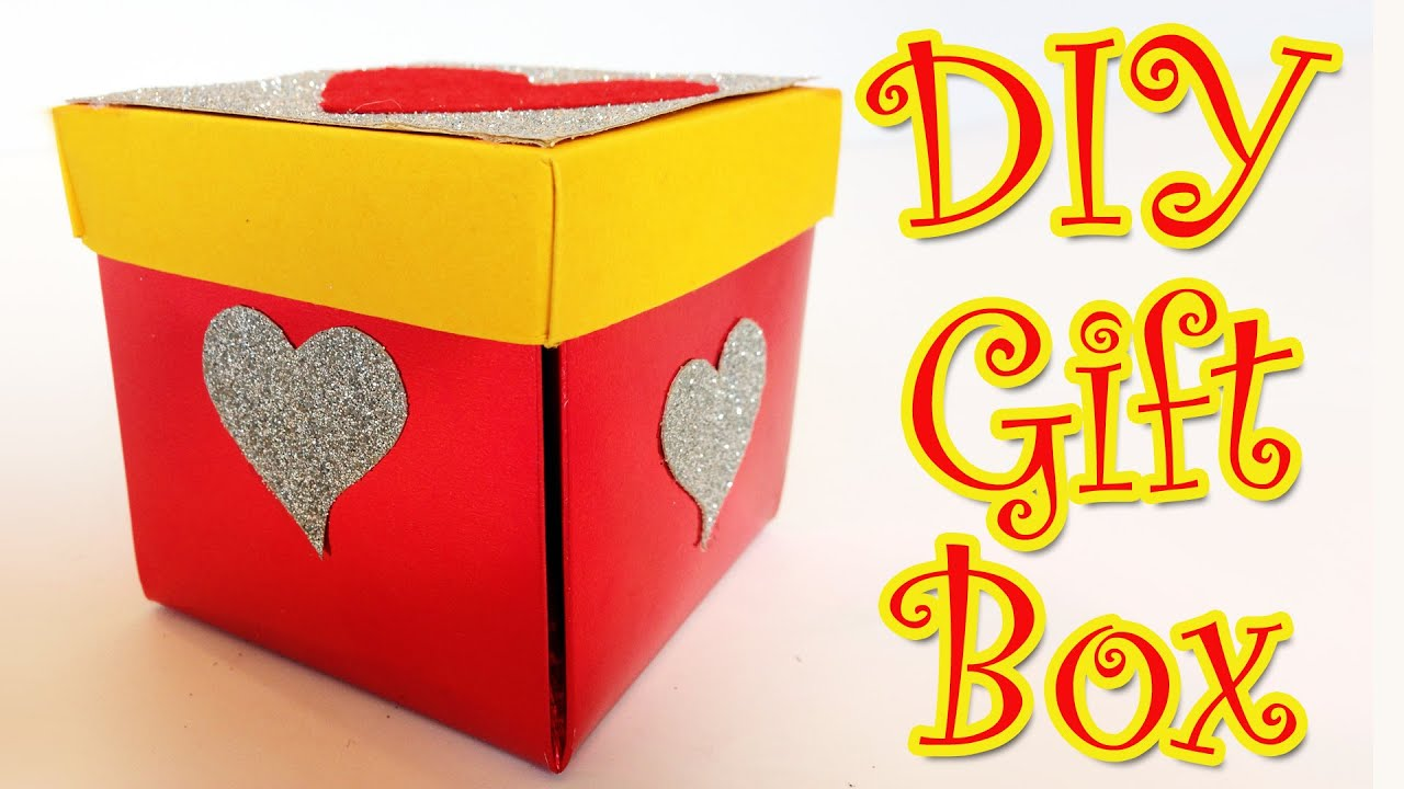 DIY Crafts Heart Gift Box   Ana | DIY Crafts.   YouTube  Homemade Gift Boxes Templates