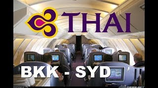Thai 747 Upper Deck Business Class - Bangkok to Sydney