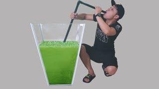 NTN - Thử Uống Cốc Trà Sữa Matcha Khổng Lồ 100 Lít (Try to drink giant matcha milk tea )