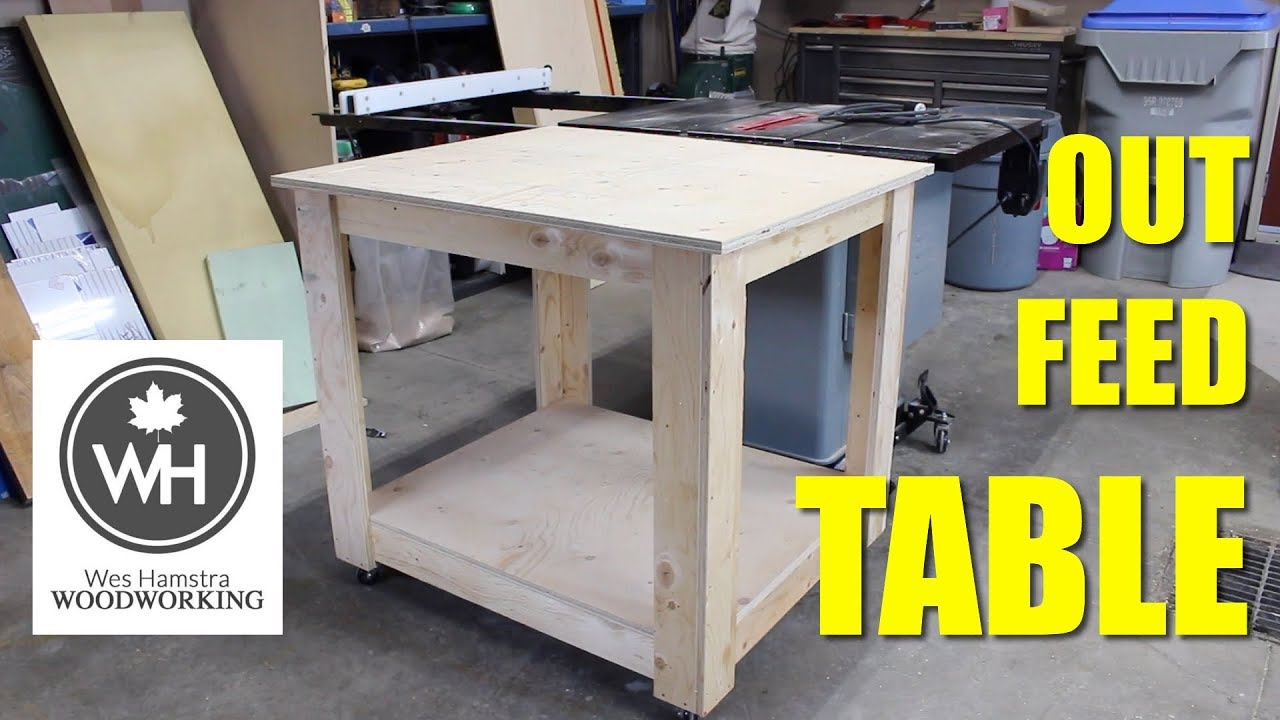 how to build a table saw out feed table