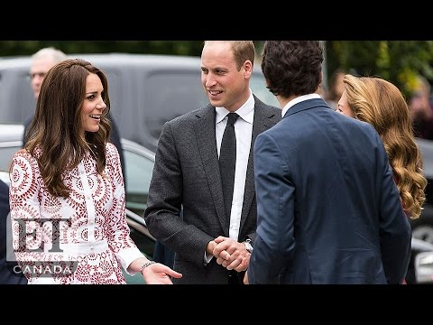 EXCLUSIVE: Prince William, Kate Middleton Meet Trudeaus Outside | Royal Visit Canada