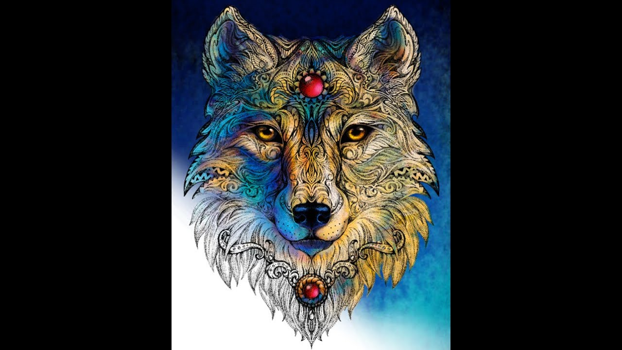 Coloring Book Flip Through Spirit Animals Mandalas People