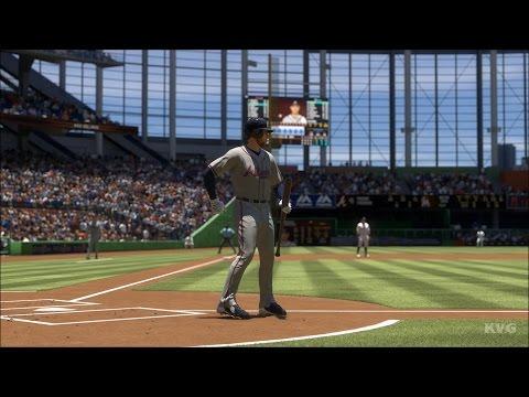 MLB The Show 17 - Atlanta Braves vs Miami Marlins   Gameplay (PS4 Pro HD) [1080p60FPS]