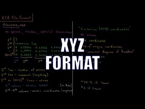 Computational Chemistry 1.1 - XYZ File Format