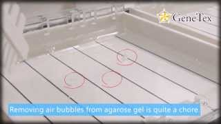 Good Idea: Instantly remove air bubbles from agarose gel