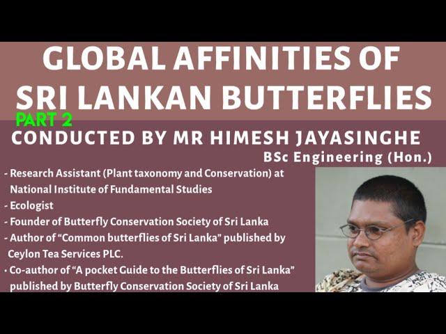 Global Affinities of Sri Lankan Butterflies  - 2/2