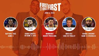 First Things First audio podcast (6.6.19) Cris Carter, Nick Wright, Jenna Wolfe | FIRST THINGS FIRST