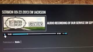 EW Jackson Sermonizes On Marriage, Homosexuality, the Pope Mp3