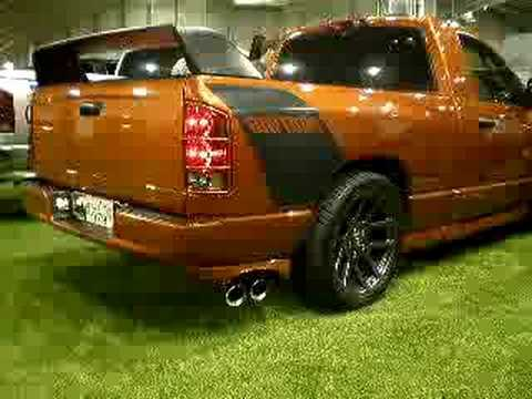 Dodge Ram Daytona exhaust sound - YouTube